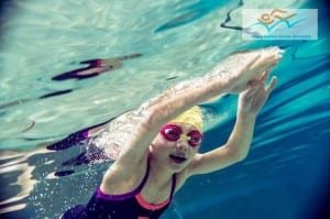 confident swimmer in our Saturday lessons in Wimbledon, south west London