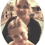 happy parent and child at Blue Wave Swim School in London