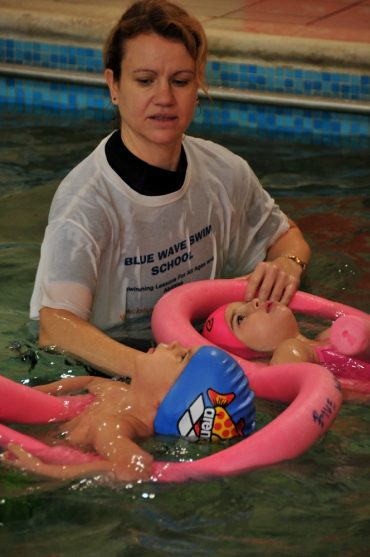 Teaching swimming to beginners