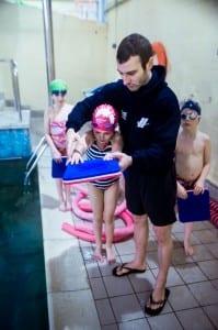 Teaching children swimming in Wimbledon, London