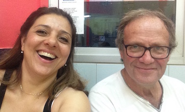 Marjan Moosavi and Dr Daniel Zylberberg in France 2015