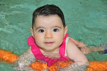 Baby swimming lessons benefits developments of babies