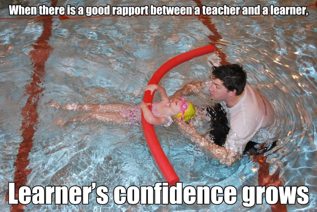 getting water confidence is the first step of learning swimming