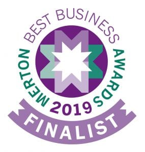 Merton Best Business Awards finalist logo for 2019