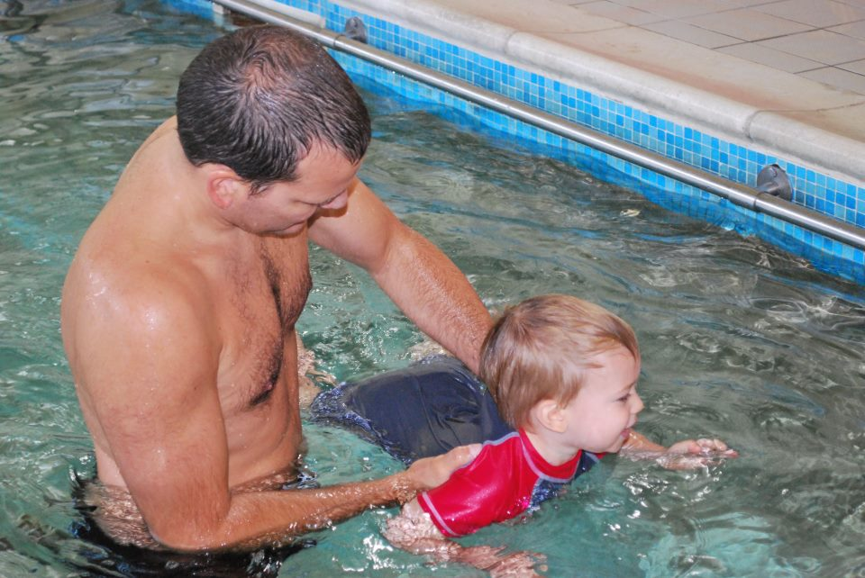 Parent and toddler swimming with in Wimbledon, south west of London