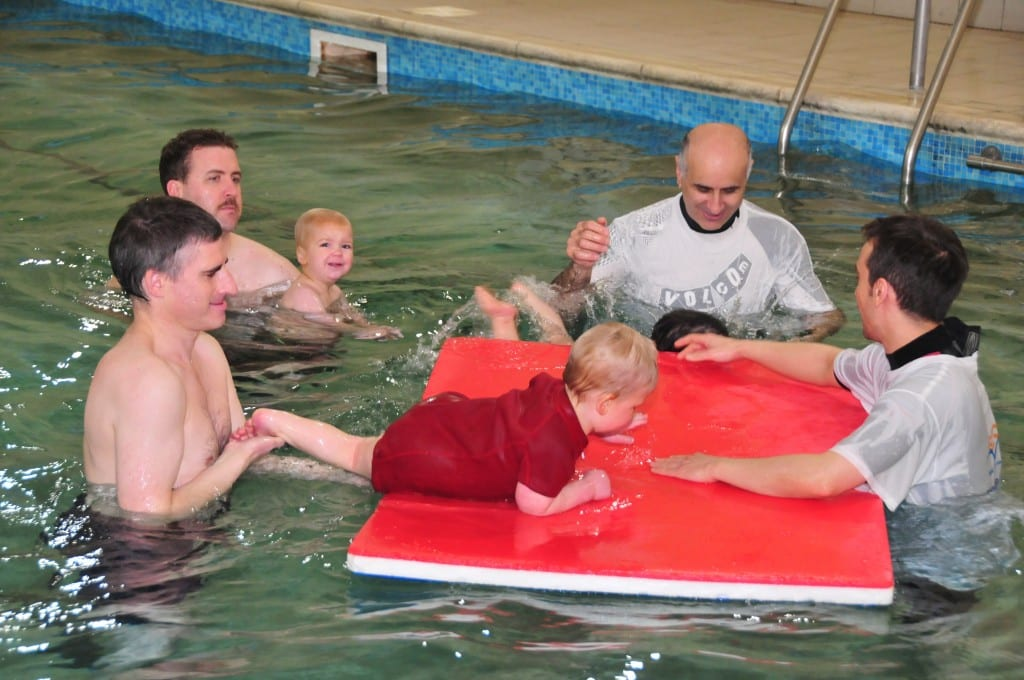 Teaching baby and toddler swimming