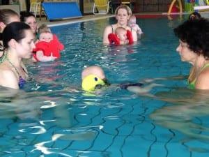 Baby swimming at EBA, Austria