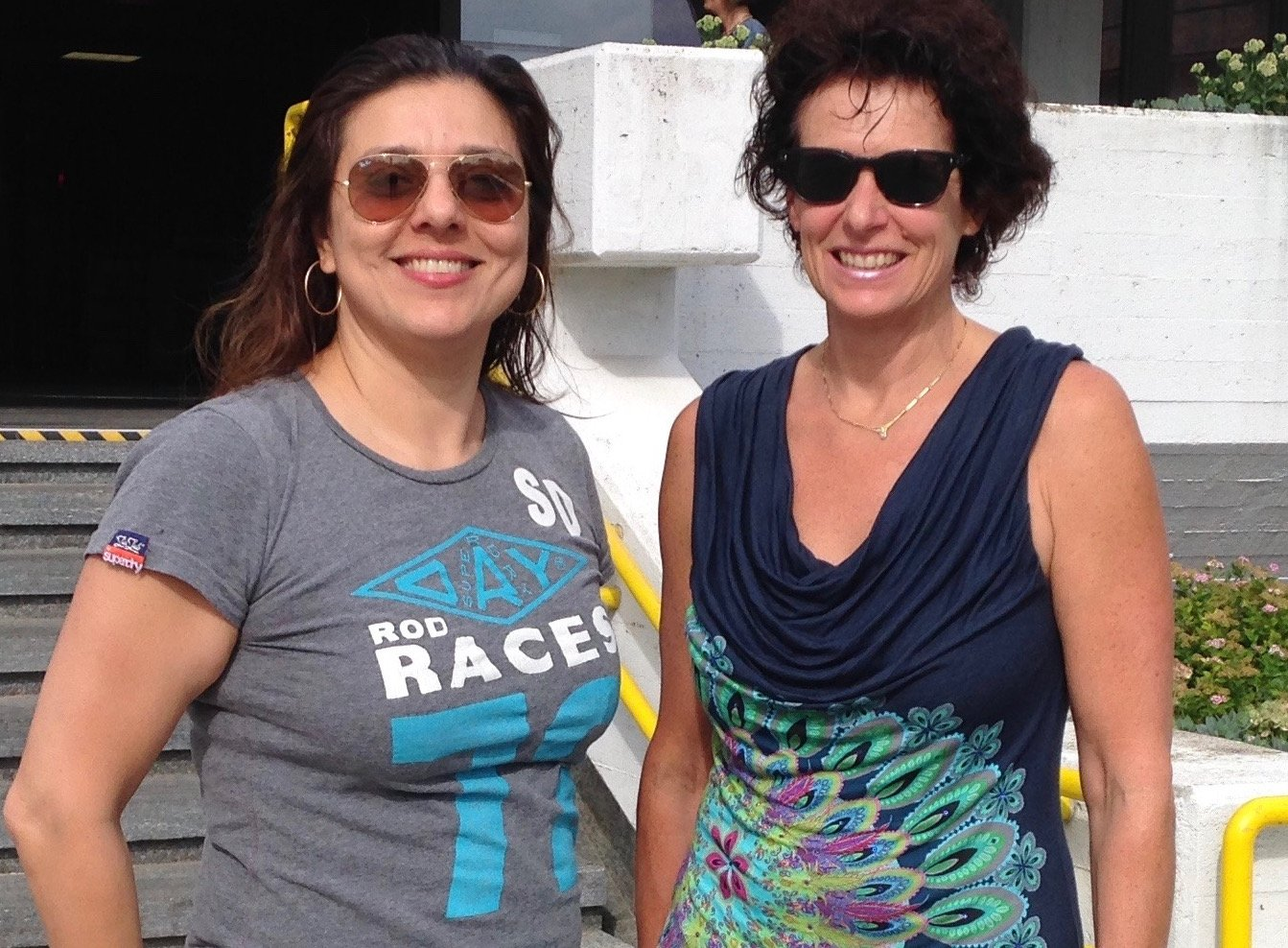 Marjan Moosavi, founder of Blue Wave SwimSchool With founder of Austrian baby swimming Association