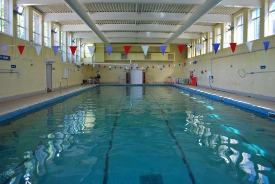 Wimbledon College swimming pool for Saturday lessons