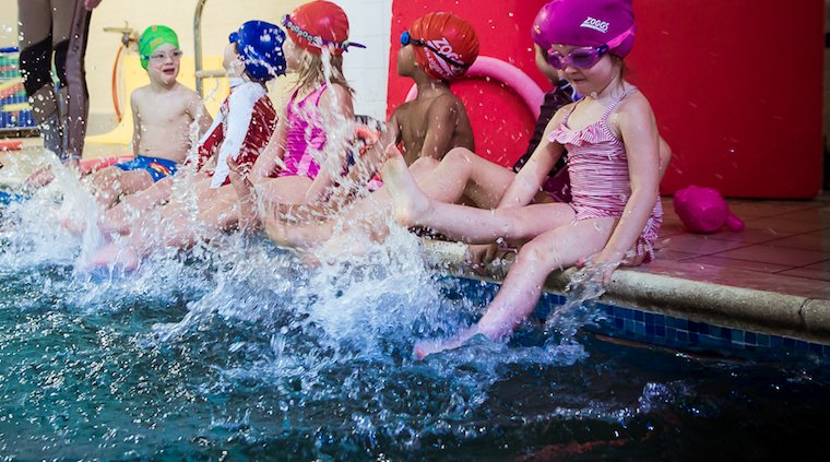 swimming class for kids at blue Wave Swim School
