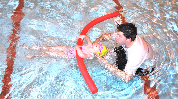 private swimming lessons in south west London at Blue Wave Swim School