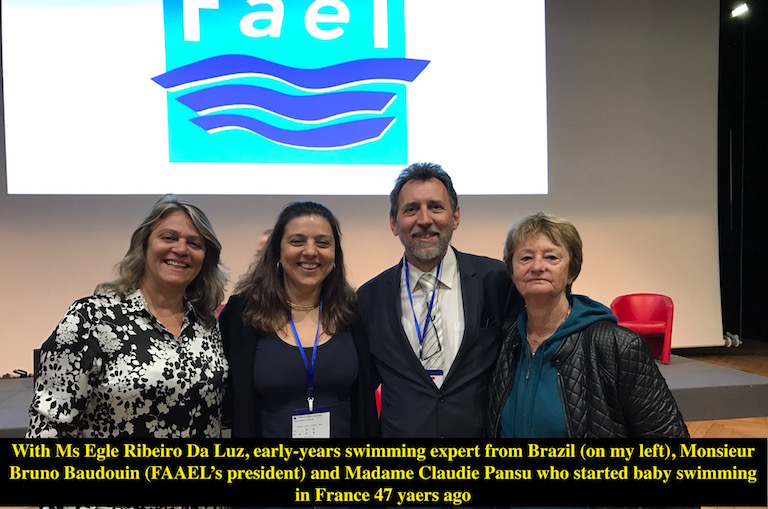 Marjan Moosavi with Monsieur Baudouin and Claudie Pansu and Egle Ribeiro Da Luz from Brazil