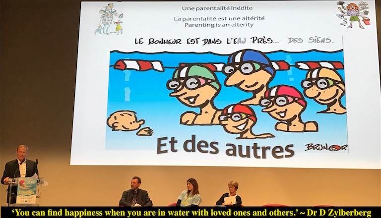 Dr Zylberberg, infant swimming specialist at FAAEL's congress in Paris April 2017