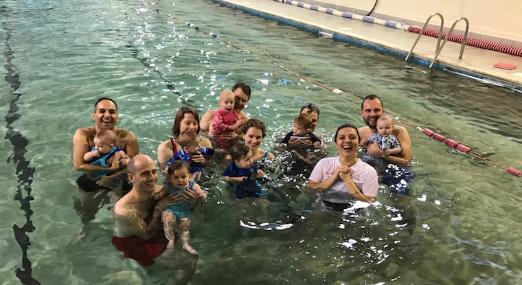 Parent & baby swim lessons at Blue Wave SwimSchool