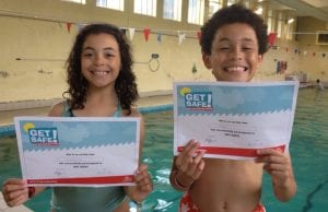 water safety lessons at Blue Wave Swim