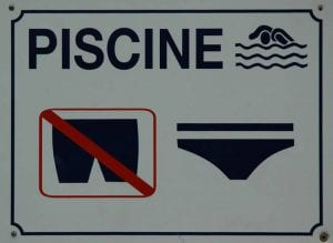 french swimming pool sign