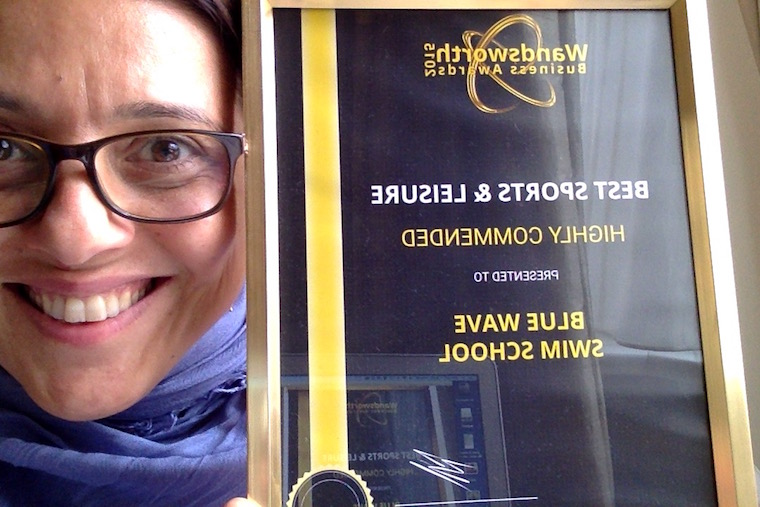 Wandsworth best business award for sports & Leisure in 2015 for Blue Wave Swim School