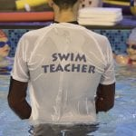 Swimming teacher at Blue Wave Swim School in London, U.K