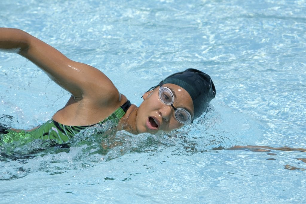 Confident swimmer stage 7 swimming front crawl