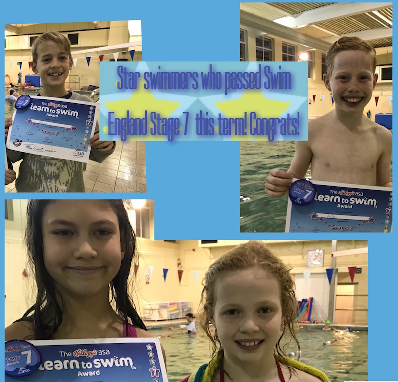 Advanced swimmers at Blue Wave Swim School