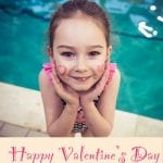 A swimmer is celebrating Valentine's Day at Blue Wave Swim School in London