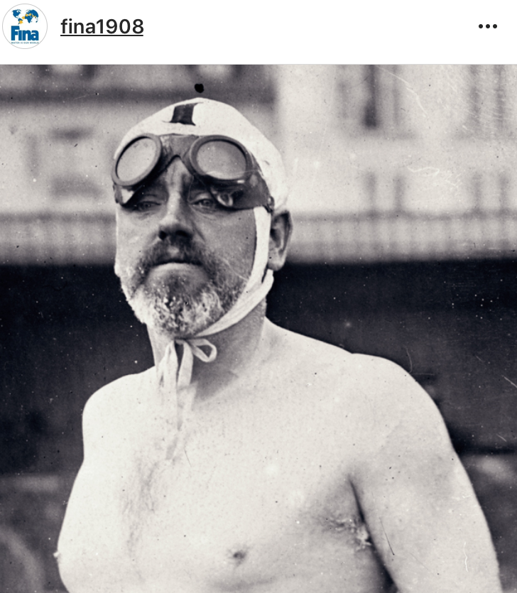 Thomas Burgess who swam the English Channel in 1911 with goggles