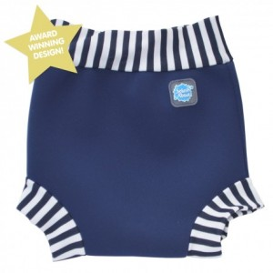 Happy Nappy – Navy/White Stripes
