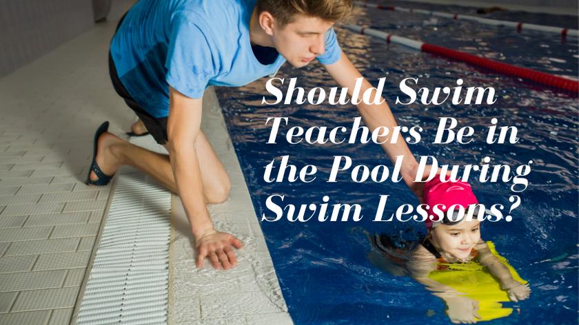 swim teacher teaching swimming