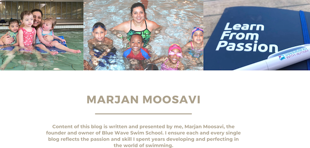 Marjan Moosavi founder of Blue Wave Swim