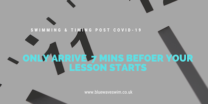 a clock showing the timing to arrive for swim lessons