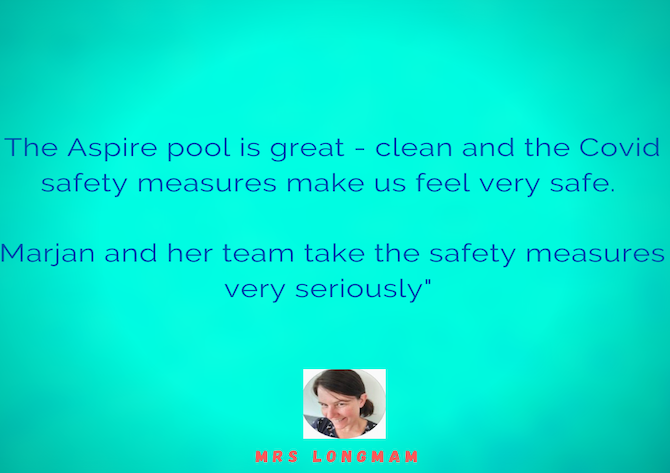 customer testimonial about Post Covid-19 swimming classes