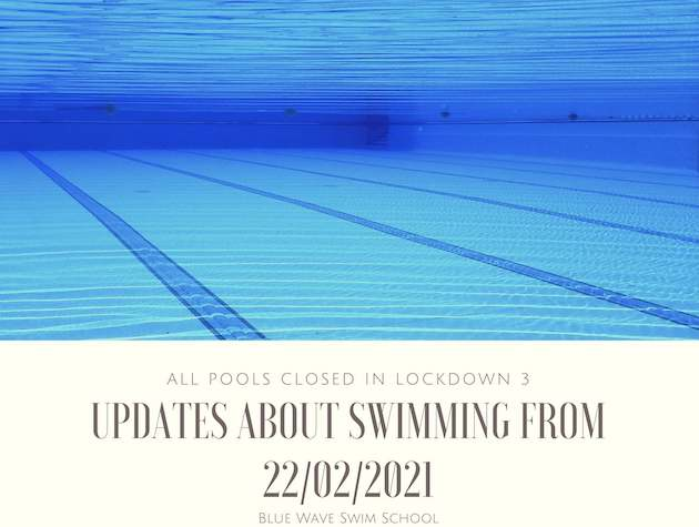 swimming pool and an update notice